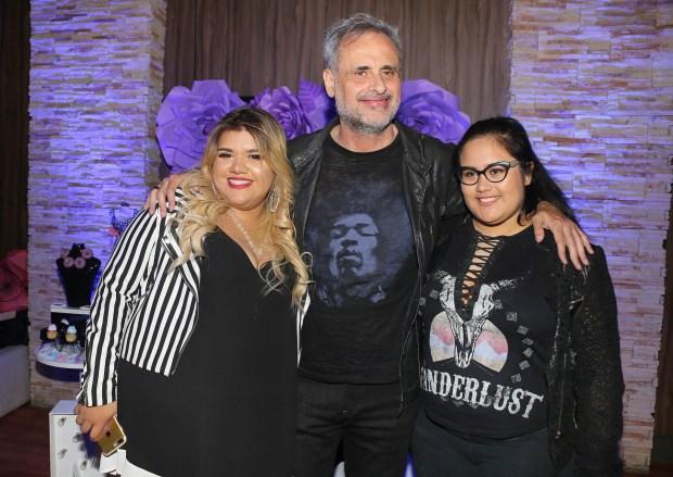 Jorge Rial con sus hijas Morena y Rocío
