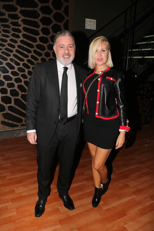 Fabián Doman y su novia, María Laura de Lillo