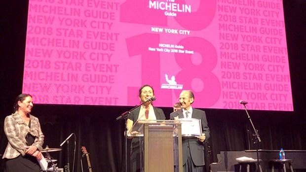 El momento de la premiación en la ciudad de Nueva York.