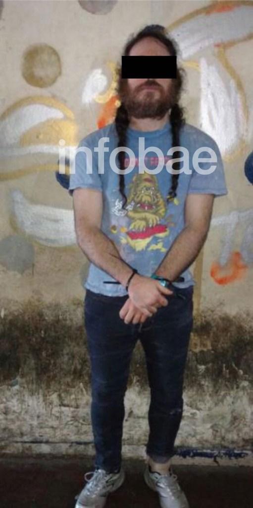 """El """"Vikingo"""", detenido durante el allanamiento en Cabrera y Humboldt (Policía de la Ciudad)"""