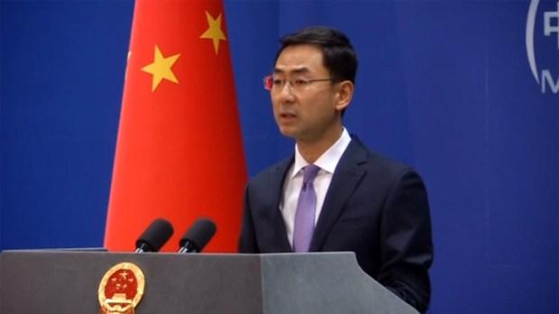 Geng Shuang, portavoz del ministerio de Exteriores de China
