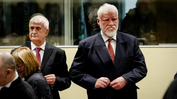 Praljak durante el juicio (AFP)