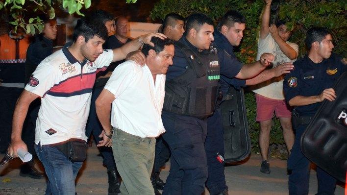 Miguel Jiménez al ser detenido a comienzos de este año (Télam)