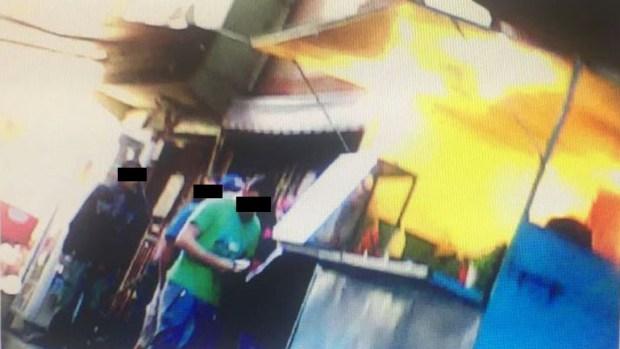 """Presuntos dealers de """"Marcos"""" Estrada en filmación policial."""