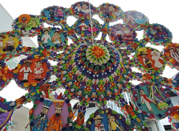 Piñata que obtuvo el segundo lugar en el concurso del Museo de Arte Popular.