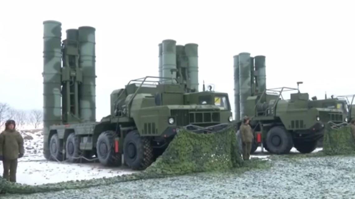 Una batería S-400 en Vladivostok, Rusia