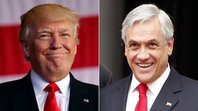 Donald Trump y Sebastián Piñera