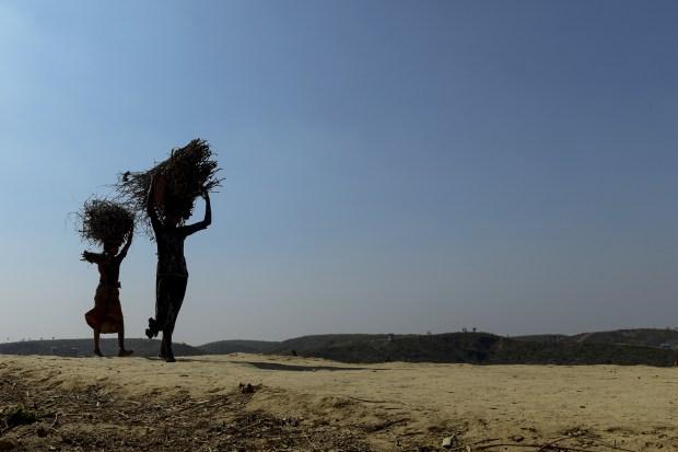 Dos refugiados rohingyas (AFP)