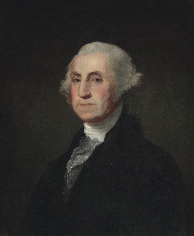 El retrato de Washington que pertenecía a Simón Bolívar (AP)