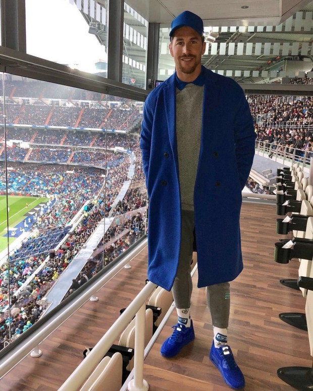 El look de Sergio Ramos en el partido del Real Madrid