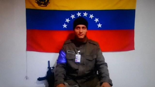 Óscar Pérez denunciando a través de un video el regimen de Maduro