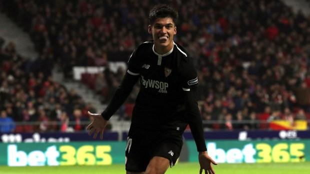 Correa hizo delirar al Sevilla en la ida de los cuartos de final (EFE)