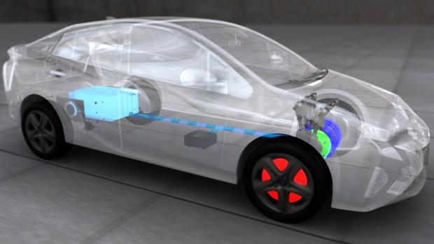 Las baterías y el motor naftero ciclo atkinson.
