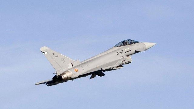 Un caza Eurofighter Typhoon, el principal aparato de los escuadrones británicos (AFP)