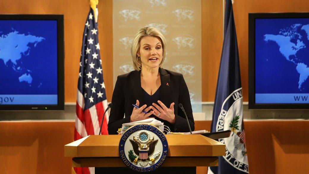 Heather Nauert, portavoz del Departamento de Estado estadounidense (Getty Images)