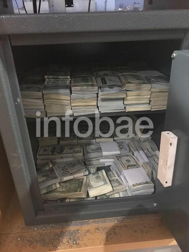 Los dólares que encontraron en la caja de seguridad de Leandro Rodríguez