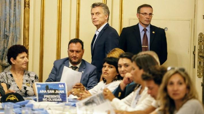 En febrero de este año Macri recibió a los familiares (Nicolás Aboaf)