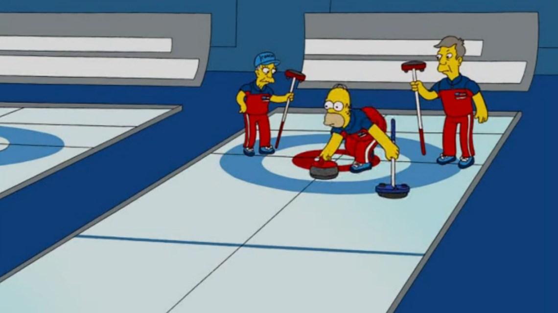 Los Simpsons también jugaron al curling