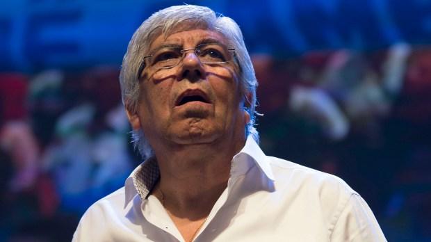 Hugo Moyano, con la marcha del 21 de febrero metió ruido en los mercados (NA)