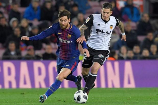 El último partido en Mestalla terminó 1 a 1 con gol de Jordi Alba de cabeza en el minuto 82 tras centro de Messi. Rodrigo había puesto en ventaja al local