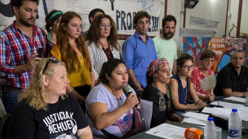 Conferencia de prensa de Ivonne Kukoc, la madre del joven abatido por el policía Luis Chocobar durante un robo a un turista estadounidense (NA)