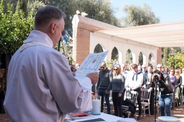 Todos los invitados participaron de una ceremonia religiosa