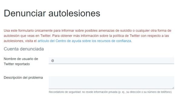 El formularioque habilitó Twitter