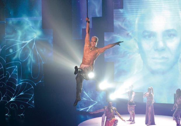 En el teatro Luxor, Mahatma –que ya superó los 50 mil espectadores– continúa la exitosa saga de Flavio, que comenzó en la temporada 2011- 2012 con Stravaganza. (Foto Fabián Uset/GENTE)