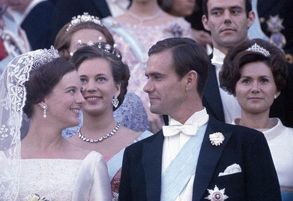 Enrique y Margarita el día de su boda