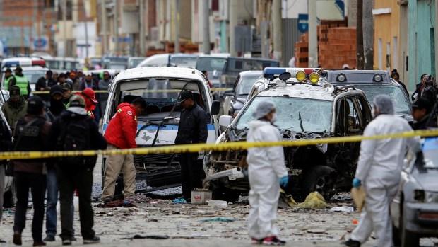 El gobierno de Bolivia determinó que la explosión que dejó 4 muertos en Bolivia fue intencional (REUTERS)
