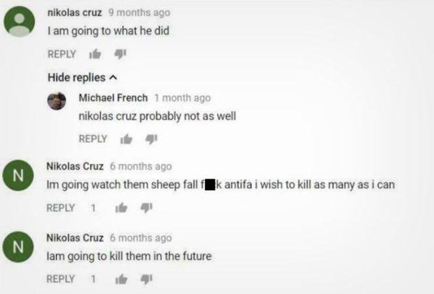 Tres comentarios que el presunto tirador hizo en otro video