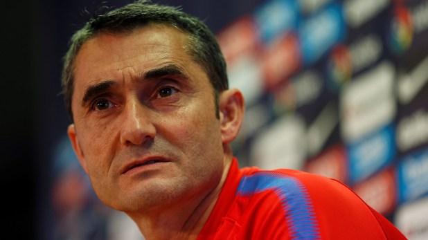 Ernesto Valverde, DT del Barcelona, tiene contrato hasta junio del 2020