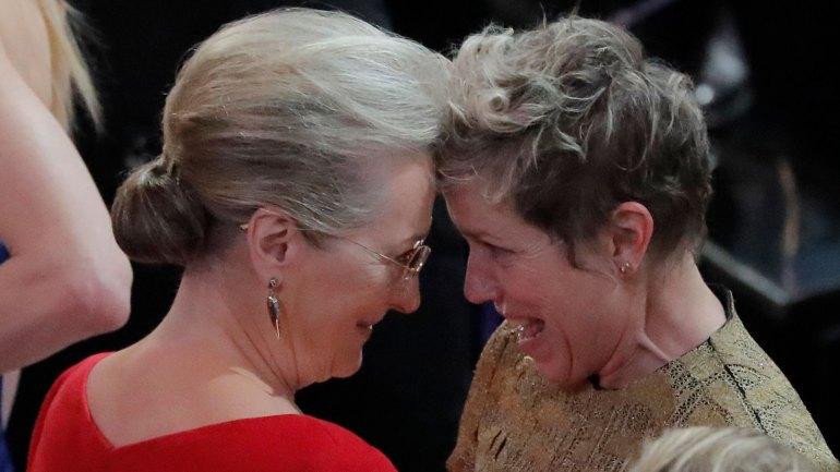 M´s allá de no haber ganado, Meryl Streep festejó que Frances McDormand's se llevara el premio a la Mejor Actriz