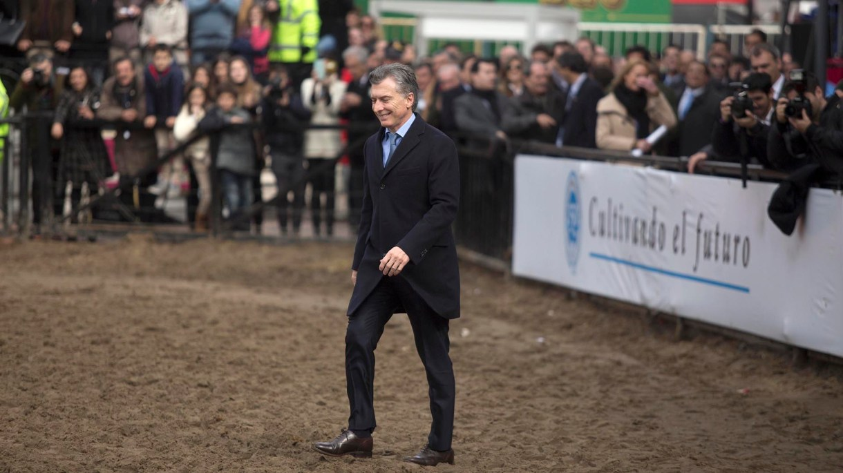 Mauricio Macri en la Sociedad Rural, el año pasado (NA)