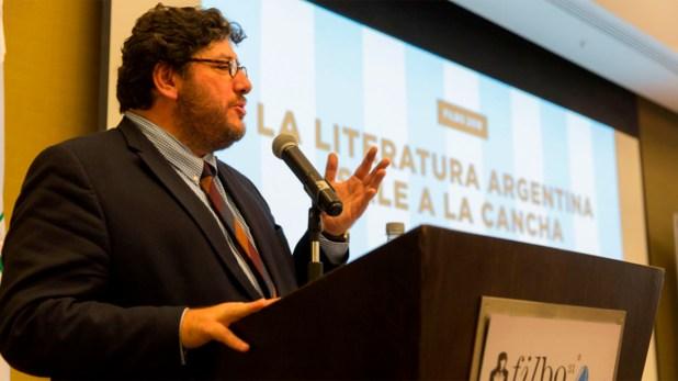 Avelluto, durante su discurso en Bogotá