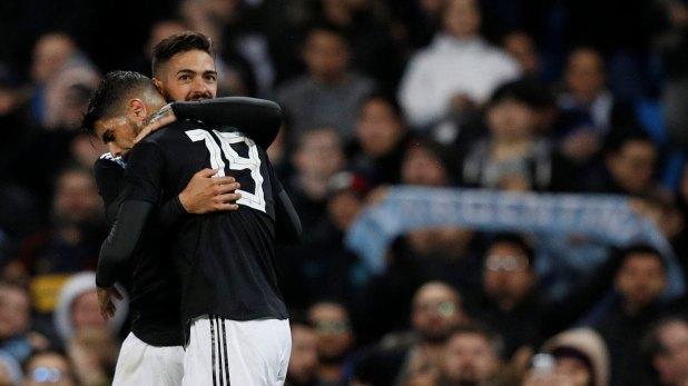 El segundo gol fue de Lanzini, que quedó cerca de Rusia 2018 (Reuters)