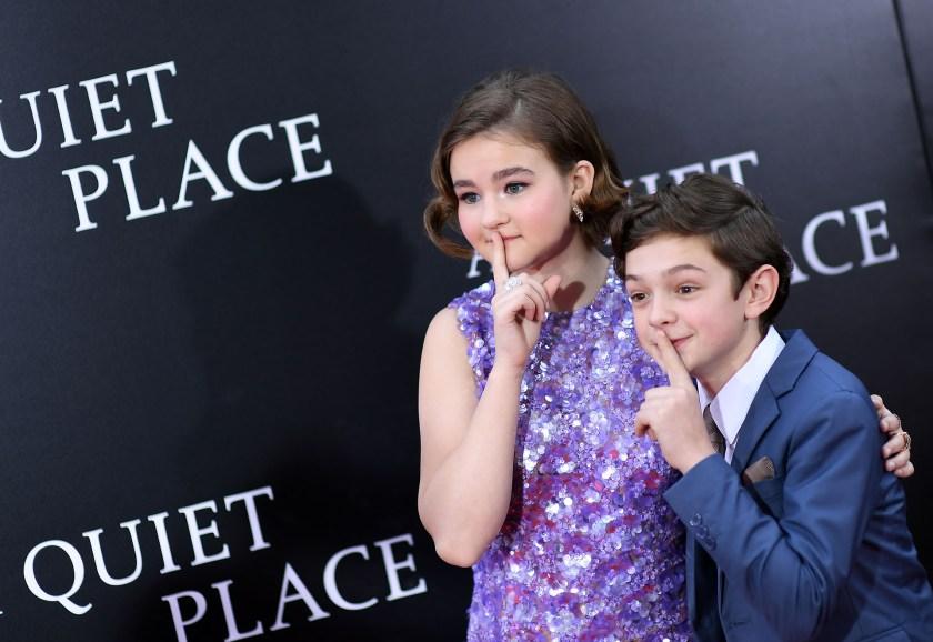 Millicent Simmonds y Noah Jupe, los niños protagonistas de la producción de terror