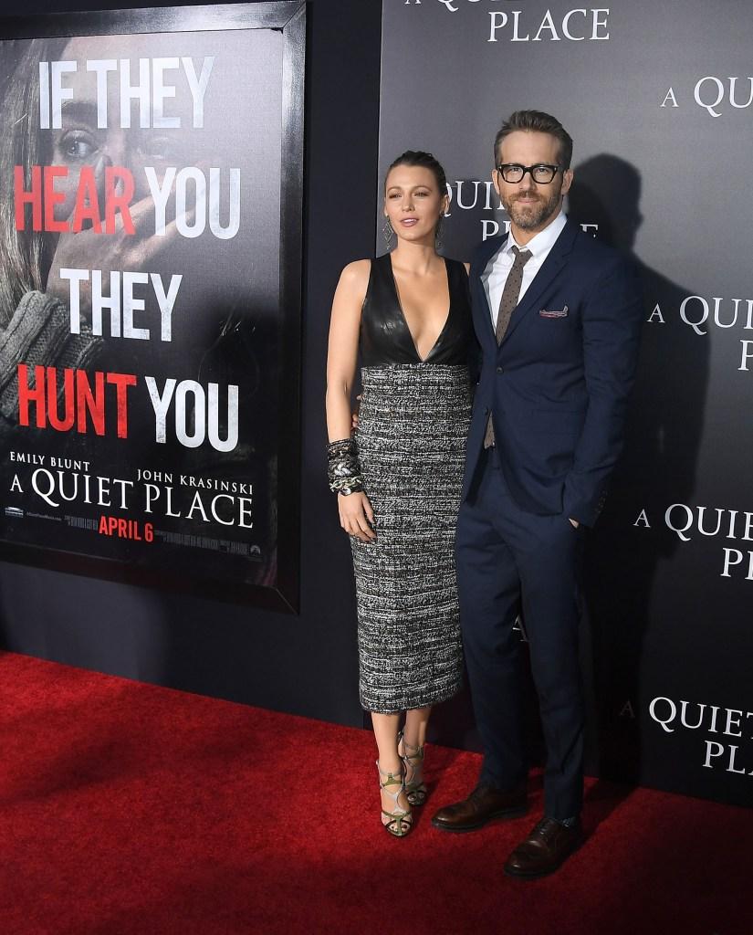 Blake Lively y Ryan Reynolds, la pareja más chic, participó de la red carpet de la presentación del film de terror y ciencia ficción 'A Quiet Place'