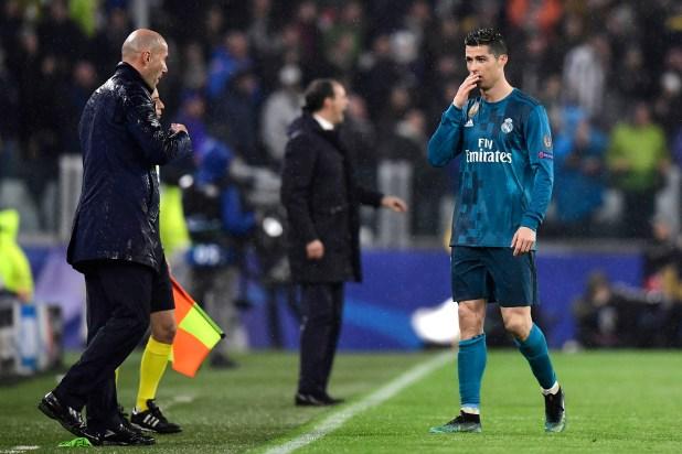 Zidane negó que Cristiano Ronaldo y los jugadores sean los causantes de su adíos (AFP)