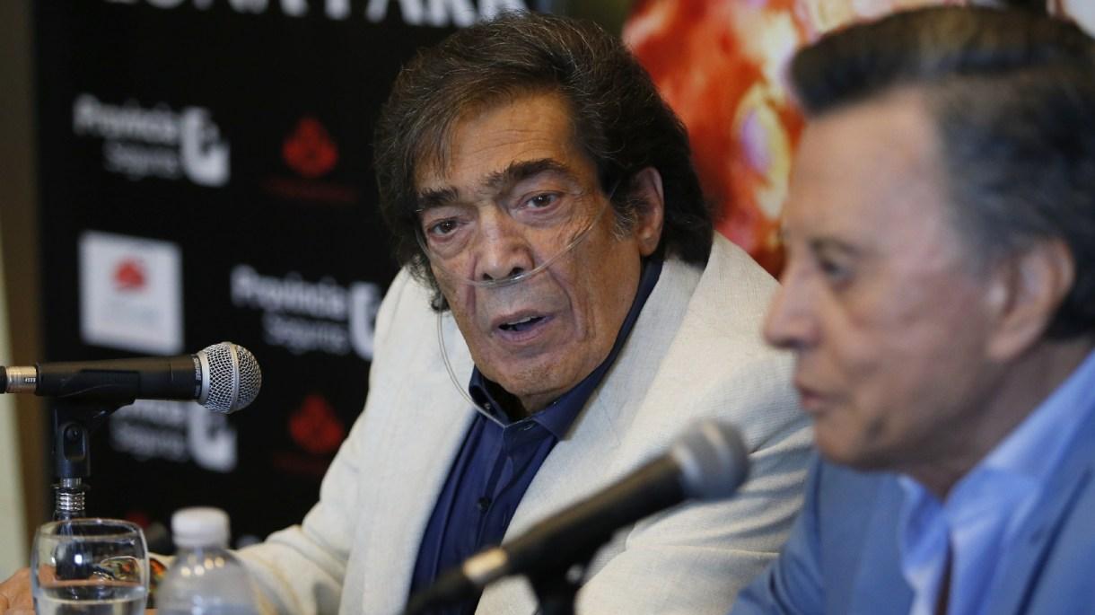 """Cacho Castaña junto a Ramón """"Palito"""" Ortega en la presentación de """"Juntos"""", el show que darán en el Luna Park el 11 de mayo"""