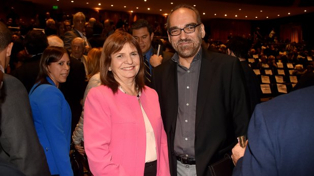 Patricia Bullrich y el diputado Fernando Iglesias