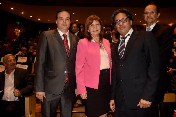 Ariel Cohen Sabban, Patricia Bullrich y Germán Garavano