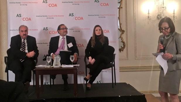 Villagra, Argüello, Jaitman y Segal, ayer en el panel de AS-COA