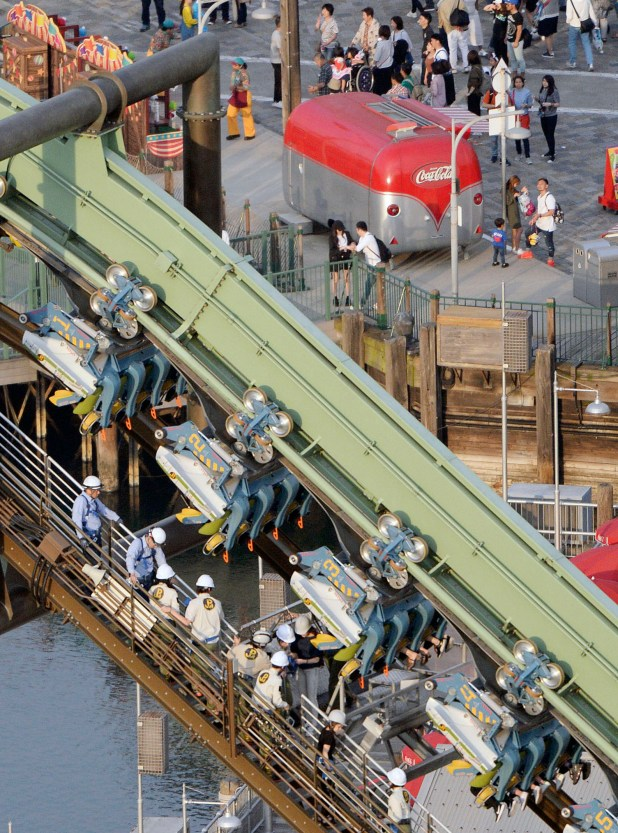 El rescate de los pasajeros(Kyodo News via AP)
