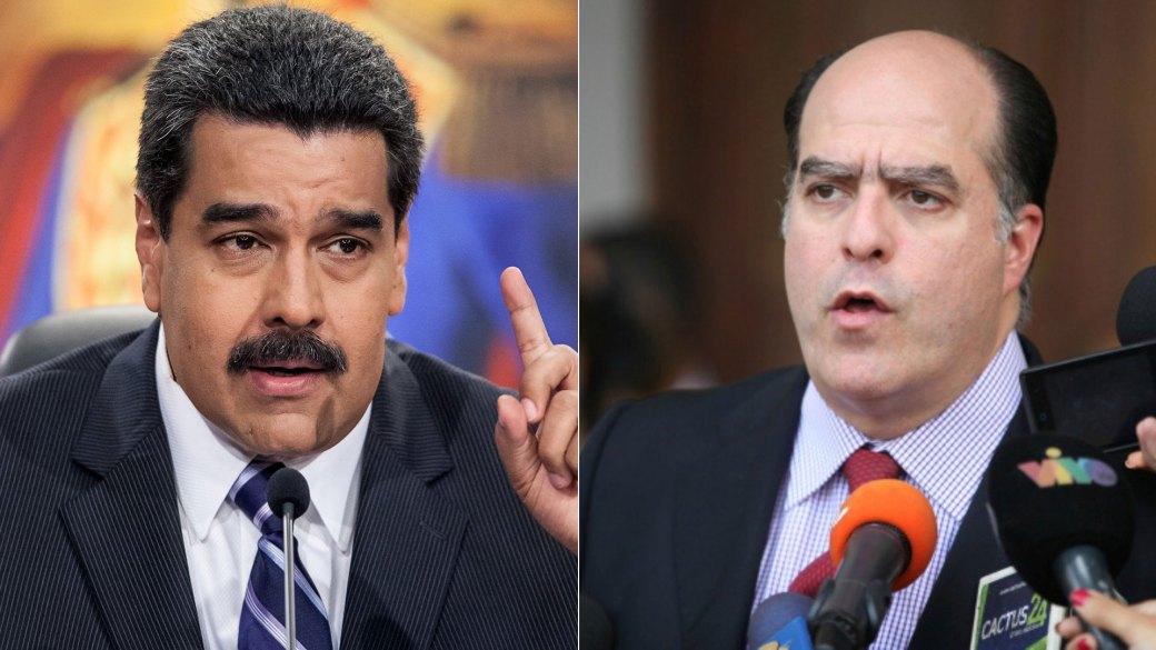 Nicolás Maduro y Julio Borges