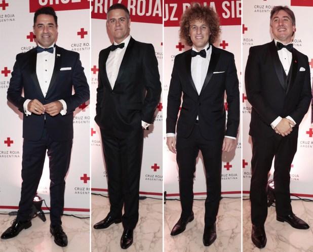 """Mariano Iúdica, Mike Amigorena, Darian """"Rulo"""" Schijman y el presidente de la Cruz Roja, Diego Tipping"""