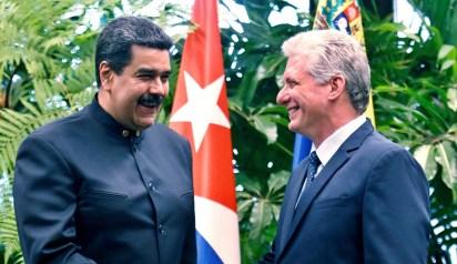 Nicolás Maduro y Miguel Díaz Canel, presidentes de Venezuela y Cuba (Reuters)