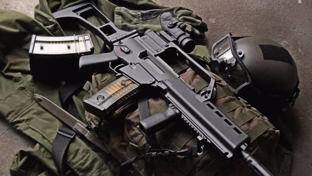 El fusil de asalto G36V, entre las armas que la empresa H&K vendió al Ejército mexicano.