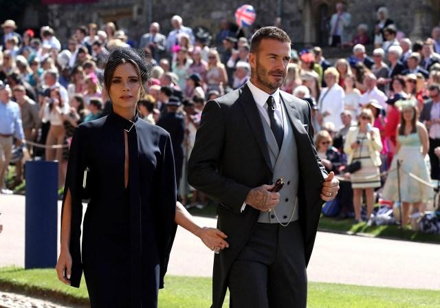 Victoria y David Beckham asistieron a la Boda Real en Windsor el pasado 19 de mayo (AP)