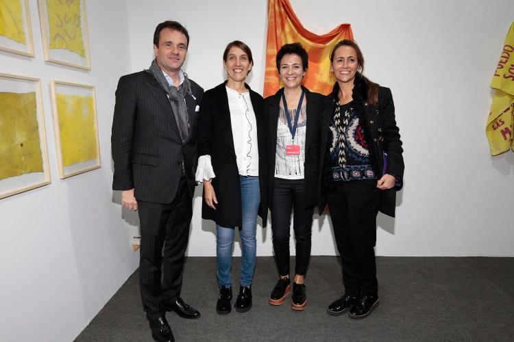 Juan Pablo Maglier, director de Relaciones Institucionales de La Rural; Silvina Sicoli, Josefina Manes y Magdalena Maglier